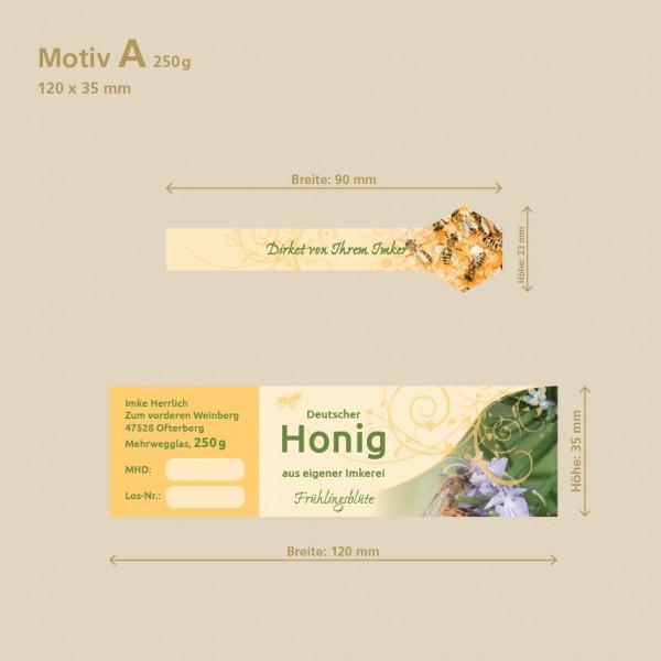 Honigetiketten mit Gewährverschluss