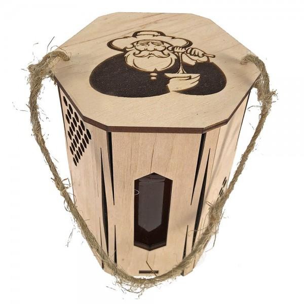 Geschenkbox mit einem Imkermotiv für ein 500 Gramm Glas
